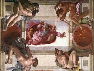 Mannerism - Collected figures, ignudi, from Michelangelo's Sistine Chapel ceiling