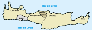 Ottoman Crete - Administrative division of Crete until 1827