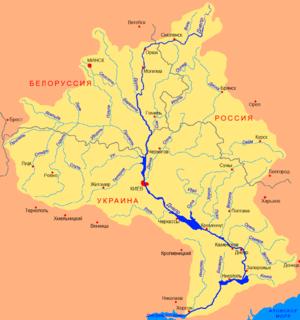Oril river in Ukraine