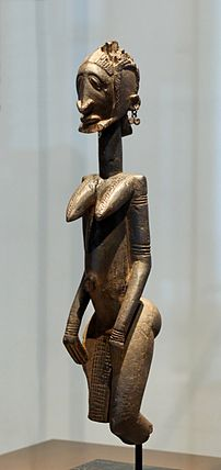 Dogon wood sculpture, probably an ancestor fig...