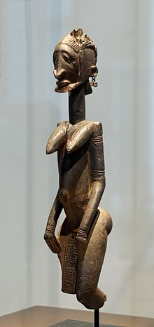 Dogon wood sculpture, probably an ancestor figure, 17th–18th century