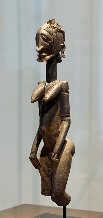Dogon people - A Dogon wood sculpture, probably an ancestor figure, 17th–18th century.
