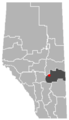 Donalda, Alberta Location.png