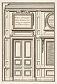 Door and Part of the Wall Paneling with Mirrored Glass from the House of 'Monsieur le Maître' at Plessis Piquet, plate VI from the Series 'Portes a Placard et Lambris', published as part of 'L'Architecture à la Mode' MET DP834188.jpg