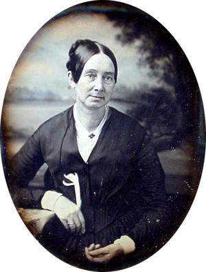 Ninth plate daguerreotype of Dorothea Lynde Dix.