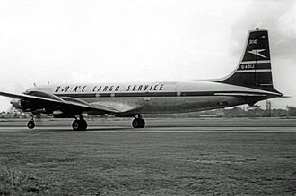 Douglas DC-7 - DC-7CF freighter of BOAC in 1961 converted with forward and rear freight doors