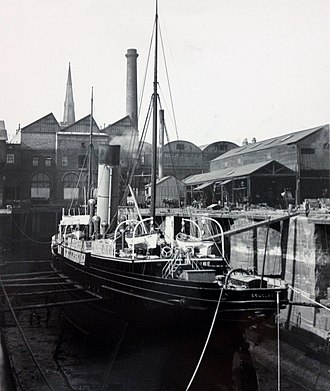 SS Douglas (1889) - Douglas pictured in Dry Dock at Birkenhead.