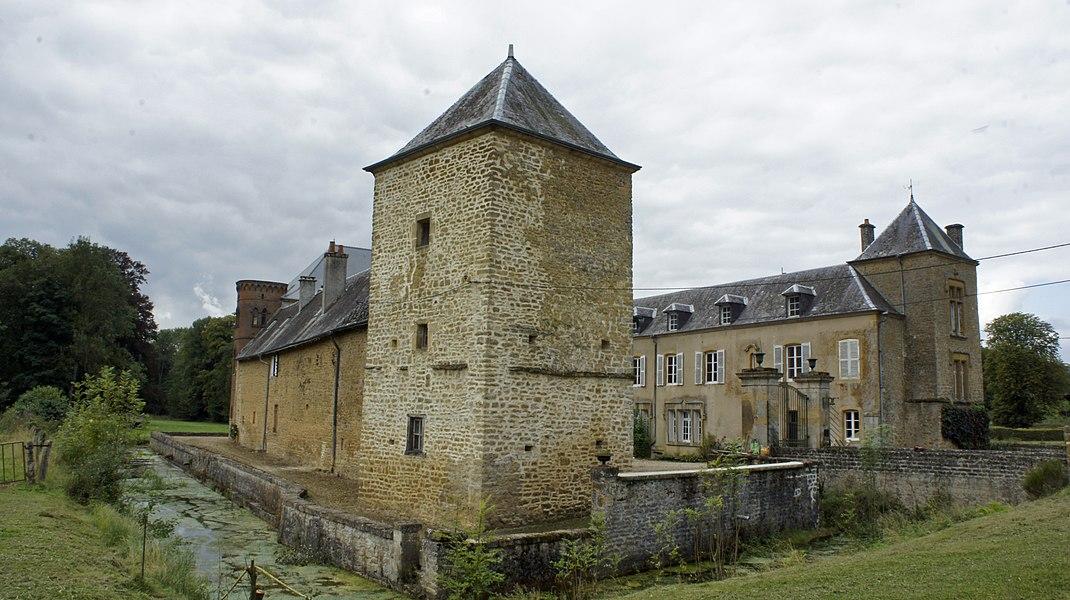 Vue du Château des douves et du_Temple.