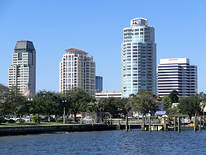 Downtown St. Petersburg Florida from Spa Beach Park.JPG