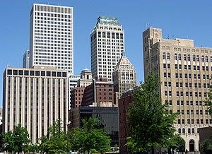 Oil Capital Historic District (Tulsa, Oklahoma) - Image: Downtown Tulsa