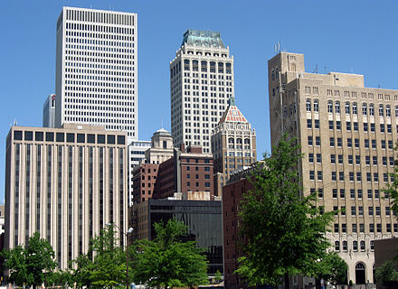 Tulsa serves as the economic engine of the region. Downtown Tulsa.jpg