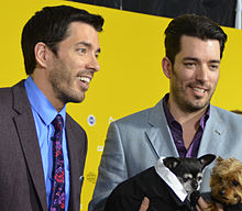 drew left and jonathan scott at the world dog awards - Drew Scott