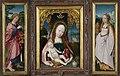 Drieluik met Maria en kind, Johannes de Evangelist (linker luik) en Maria Magdalena (rechter luik) Rijksmuseum SK-A-2570.jpeg