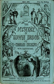 <i>The Mystery of Edwin Drood</i> Monthly serial; final and unfinished novel by Charles Dickens; published 1870