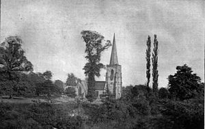 Duffield, Derbyshire - Duffield Church from the North West (c. 1922)