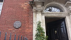 Photo of Arthur Wellesley and Garret Wesley brown plaque