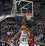 Στιγμιότυπο από αγώνα του NBA
