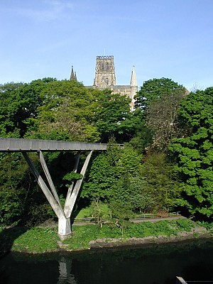 Ove Arup - Kingsgate Bridge seen from Durham Students Union, the Cathedral above