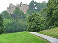 Dunster Castle from the drive through Old Park - geograph.org.uk - 1702359.jpg