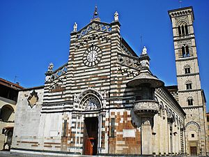 Prato Cathedral - The west front of the cathedral