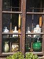 Dwelling house. Listed ID 10480. Window with ceramics. - 22 Batthyány Street, Tihany.JPG