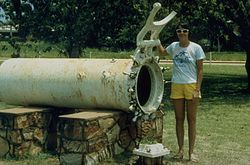 Early diving recompression chamber at Broome, Western Australia.jpg