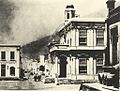 Early photo of Cape Towns townhall and Longmarket street 1880.jpg