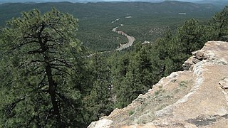 Mogollon Rim mountain range in Arizona