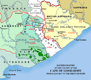 1820 Settlers British colonists who helped settle present-day South Africa