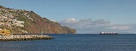 Eastern part of Funchal, Ponta do Garajau, statue of Cristo Rei and Desertas Islands. Madeira, Portugal.jpg