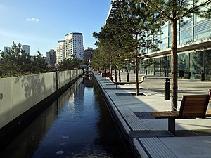Eastside City Park - Image: Eastside Park Canal