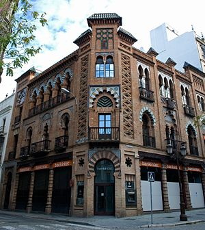 Bankinter - The Bankinter building in Seville, architect Aníbal González (1907-1909).