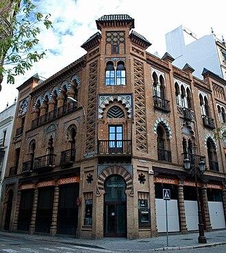 Bankinter - The Bankinter building in Seville, architect Aníbal González (1907-1909).
