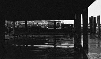 "Edgartown, Massachusetts - The ""Chappy Ferry"", the landing near Edgartown village for the ferry that crosses to Chappaquiddick Island"