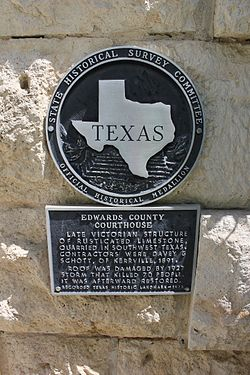 Edwards county courthouse, rocksprings, texas historical marker (7914396302)