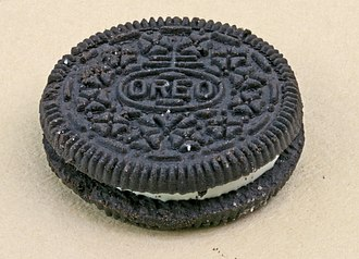 Nabisco - The Nabisco trademark imprinted on an Oreo cookie
