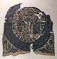 Egitto copto, inserto quadrato con scena dionisiaca, lana e lino, V secolo.jpg