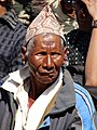 Elderly Man in Plaza - Durbar Square - Patan - Kathmandu (13465689483).jpg