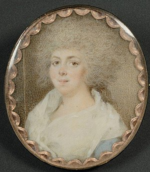 Eleanor Calvert - Miniature painting of Eleanor Calvert, c1780, by an unknown artist; possibly the Irish-American painter John Ramage