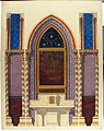Elevation of a design for an altar and painted wall decoration MET 67.827.199.jpg