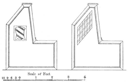 Fig. 6. Elevation of book-desks and reader's seats, Cesena