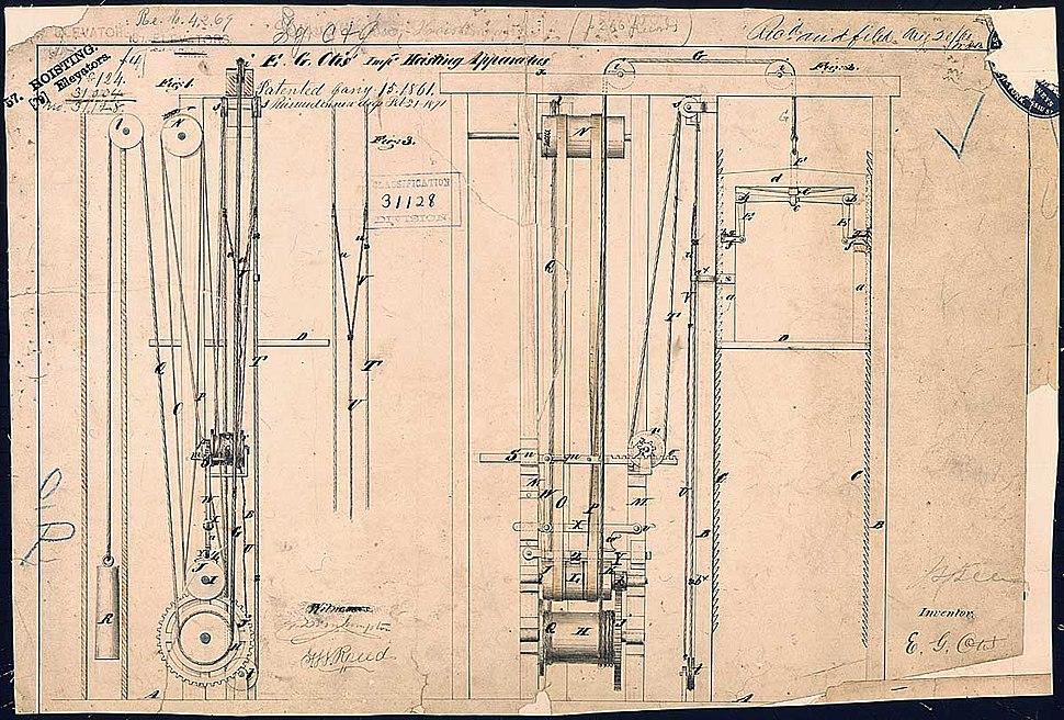 ElevatorPatentOtis1861