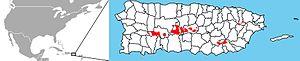 Elfin woods warbler - Image: Elfin woods Warbler distribution map
