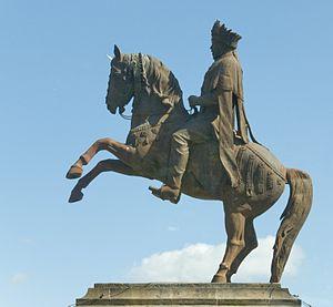 Mersha Nahusenay - Statue of Emperor Menilek II in Addis Abeba