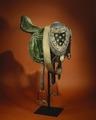 Engelsk sadel i grön sammet med hölster - Skoklosters slott - 39537.tif