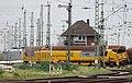 Entgleisung des HSG-Schienenschleifzugs an der Südeinfahrt des Rangierbahnhofs Köln-Kalk Nord 2015-11-16-02.JPG