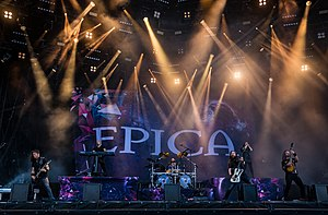 Epica performing at the 2018 Wacken Open Air