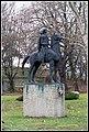 Equestrian statue of Francis II Rákóczi, 2014 Sárospatak, Hungary - panoramio (40).jpg