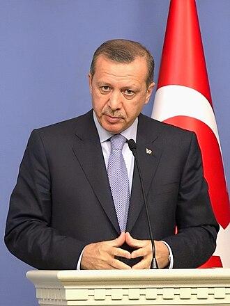 Recep Tayyip Erdoğan - Erdoğan at a 2012 press conference, at the Office of the Prime Minister (Başbakanlık), in Ankara