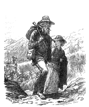 Erema - Erema and her father, drawn by Frank Dicksee